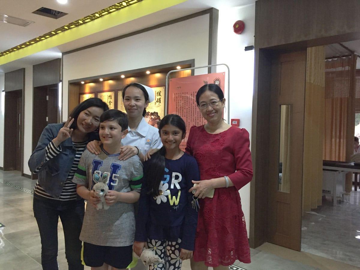 Patient in China zur Stammzellbehandlung für Autismus