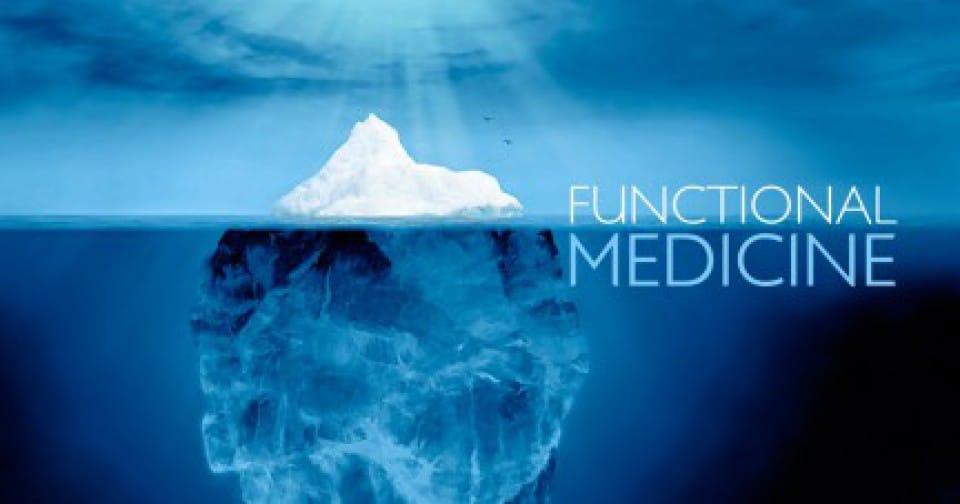 Funktionelle Medizin mit Eisberg-Analogie